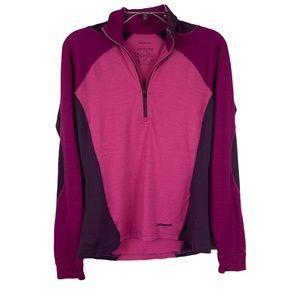 Patagonia Magenta Pink Merino Wool Zip Jacket Sz S